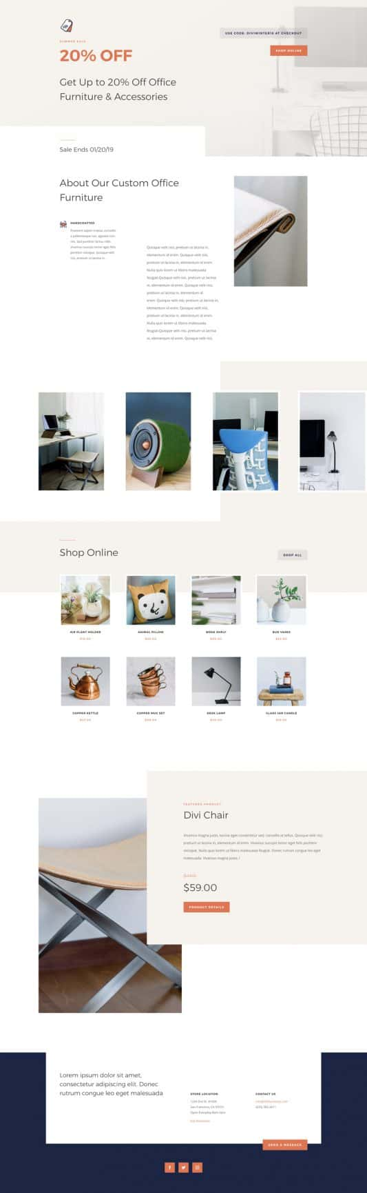 Furniture Store Sale Page Style 1