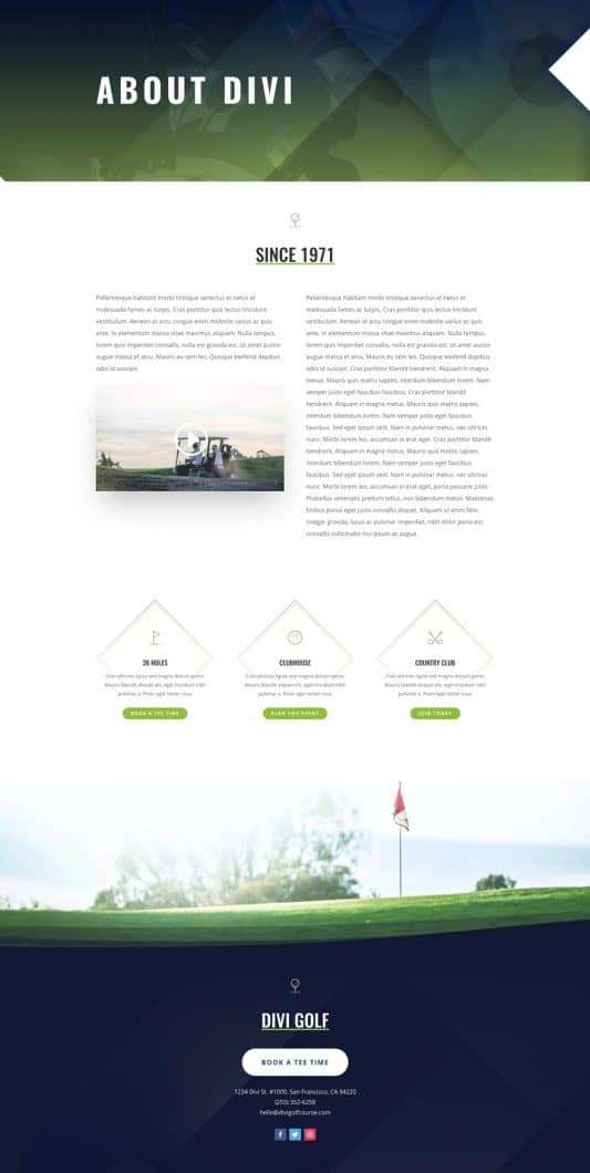 Golf Course Web Design 1