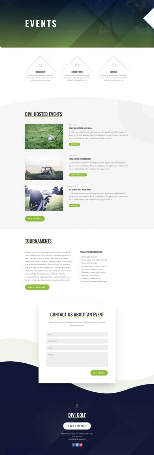 Golf Course Web Design 5
