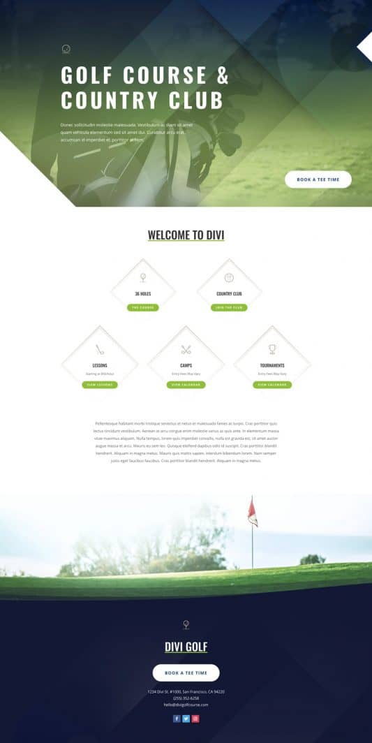 Golf Course Web Design 6