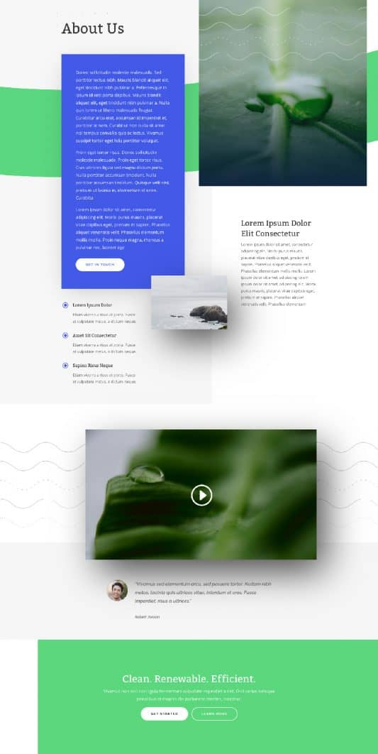 Green Energy Web Design 1