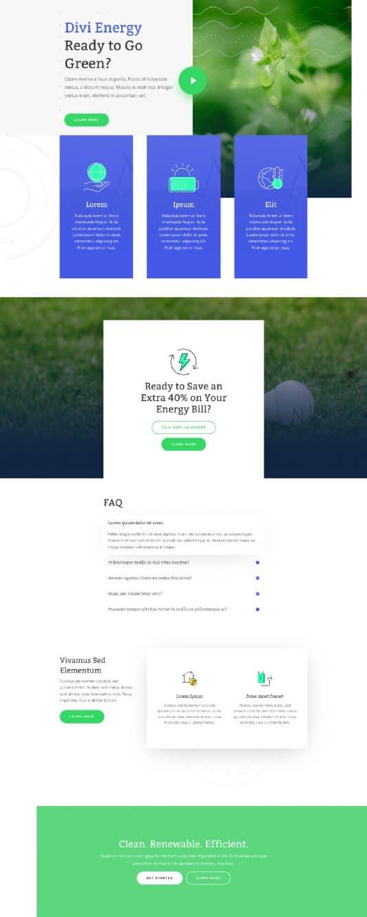 Green Energy Web Design 4