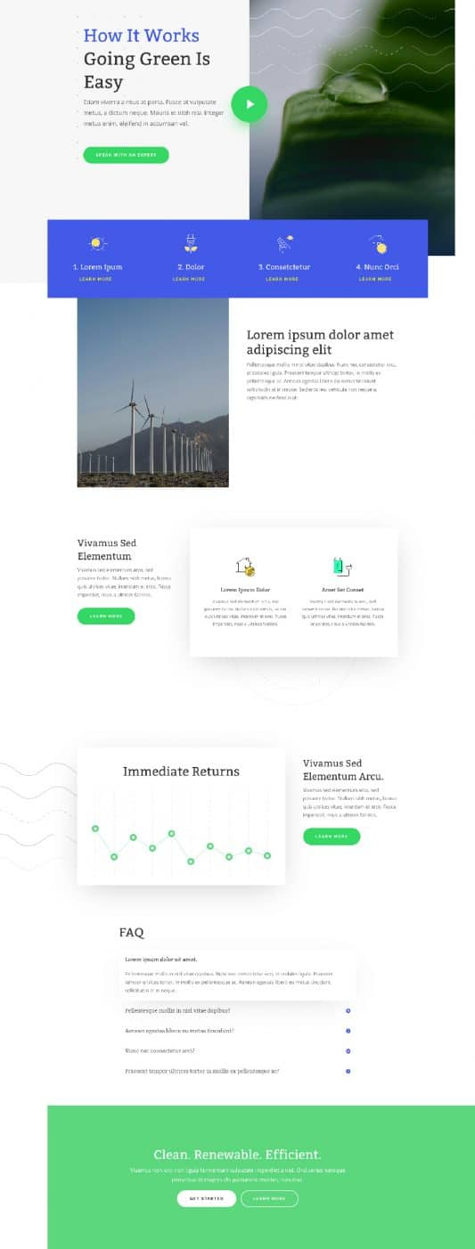 Green Energy Web Design 5