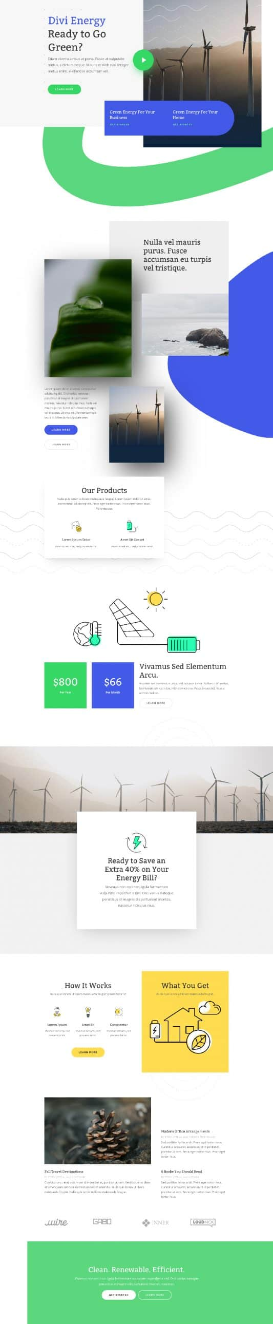 Green Energy Landing Page Style 1