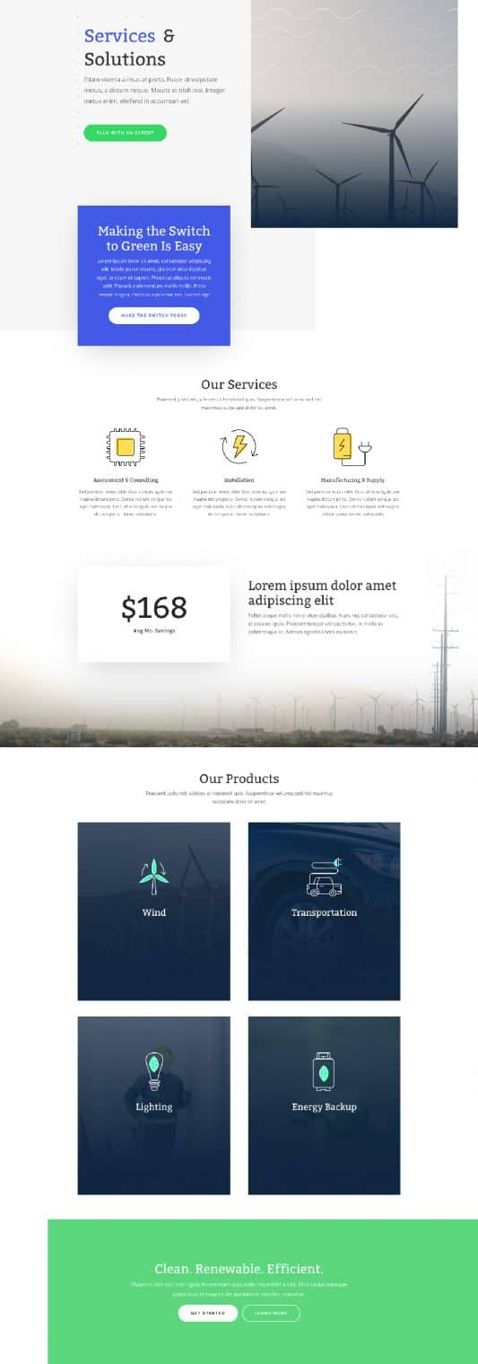 Green Energy Web Design 6