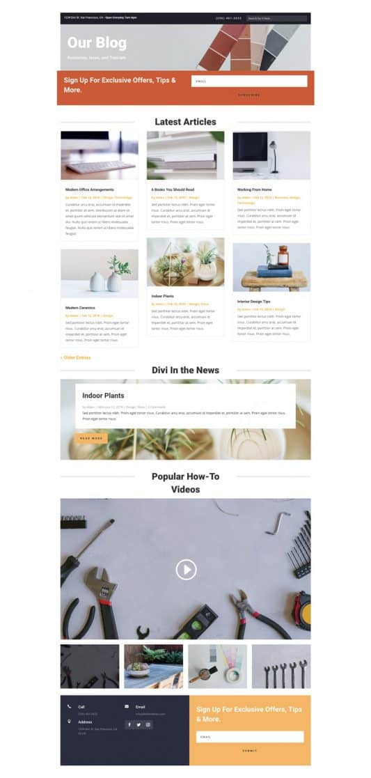 Hardware Store Web Design 2