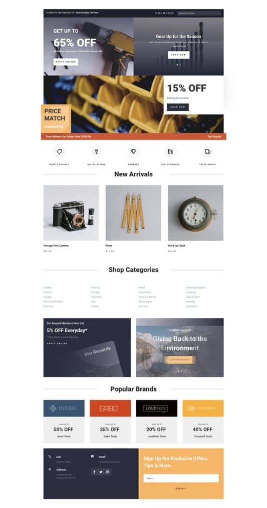 Hardware Store Web Design 4