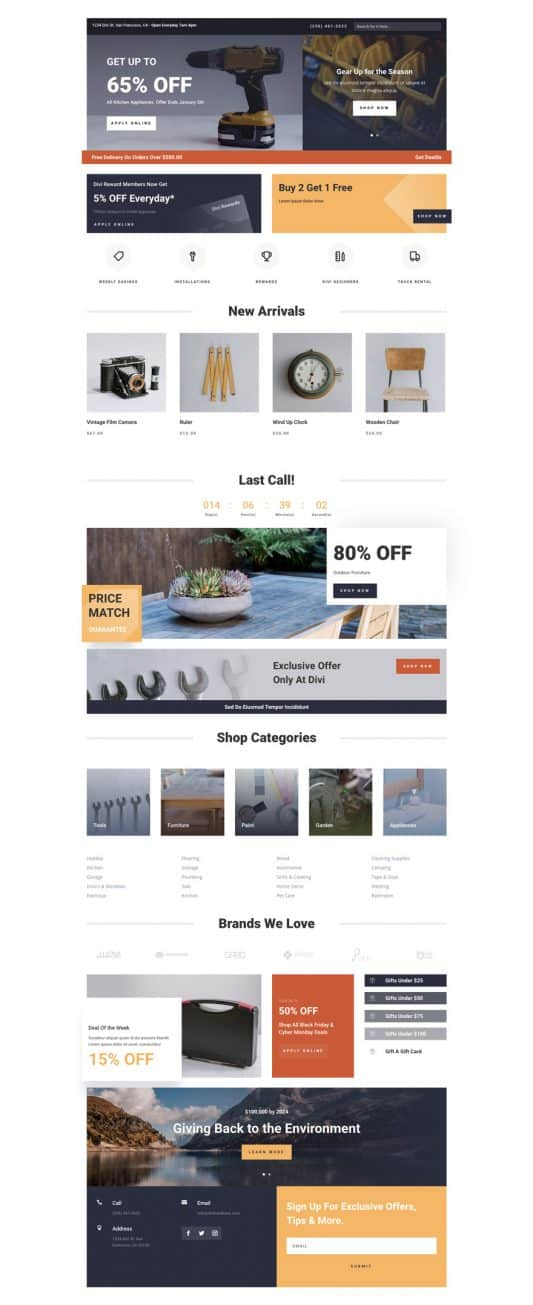 Hardware Store Web Design 5