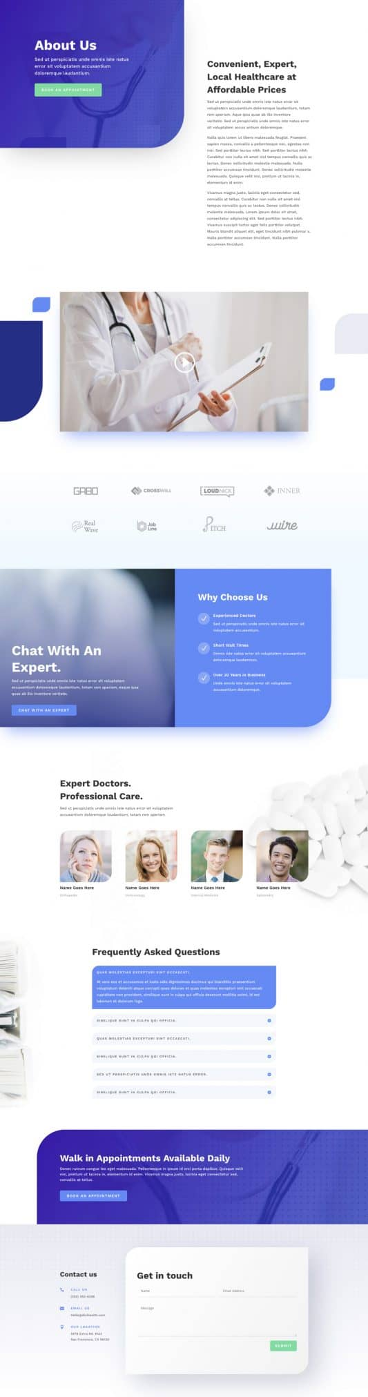 Health Clinic About Page Style 1