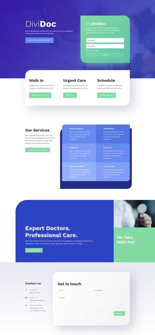 Health Clinic Web Design 4