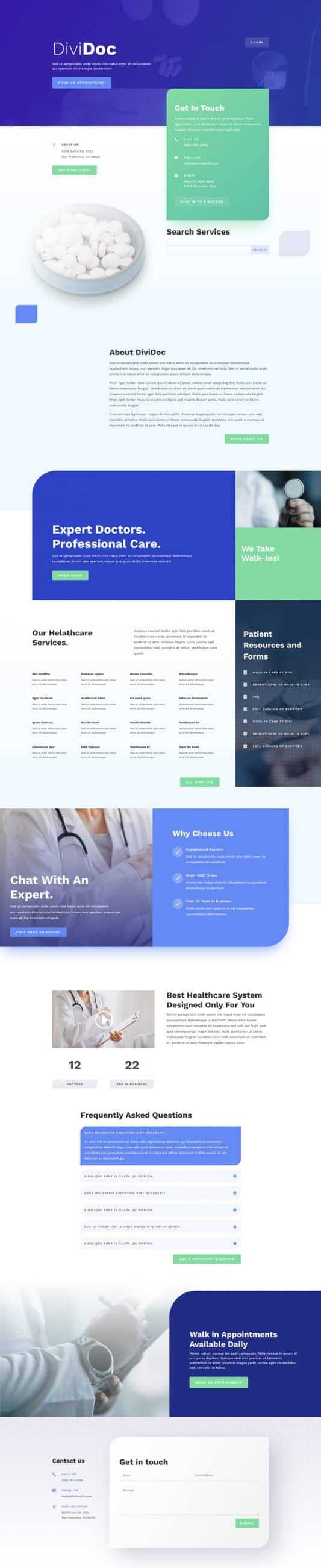 Health Clinic Web Design 5