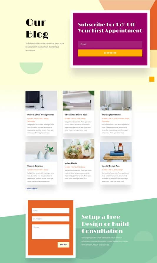 Home Improvement Web Design 2
