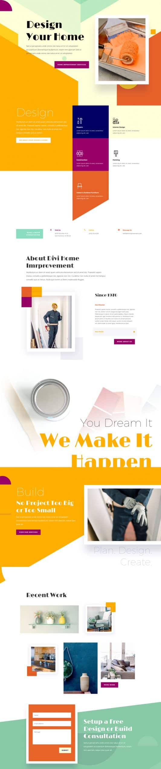 Home Improvement Web Design 5