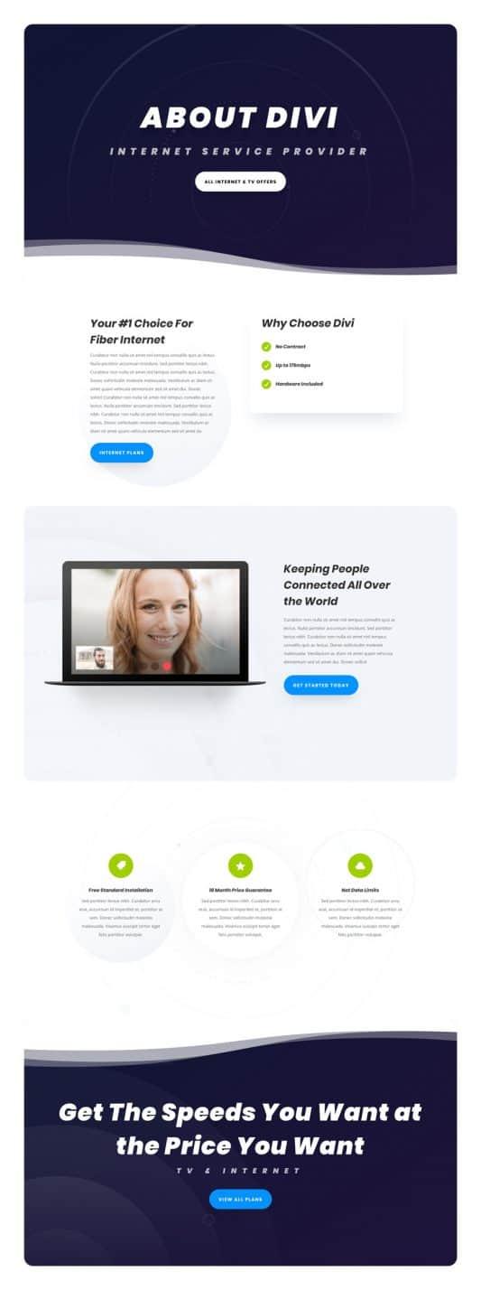 Internet Service Provider Web Design 1