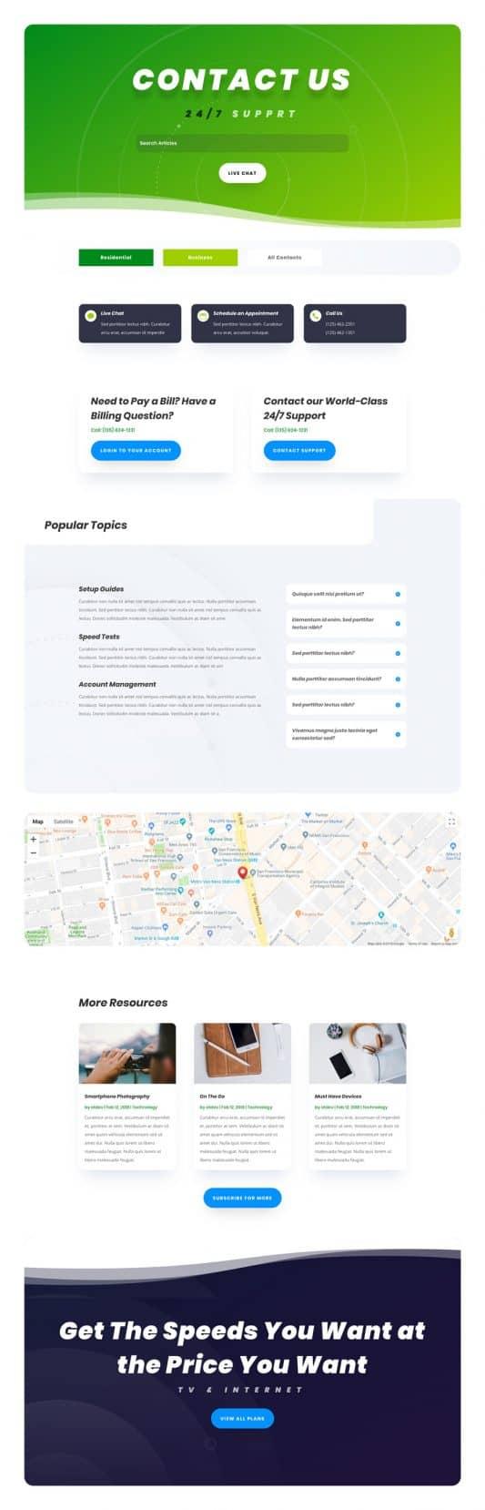 Internet Service Provider Web Design 3