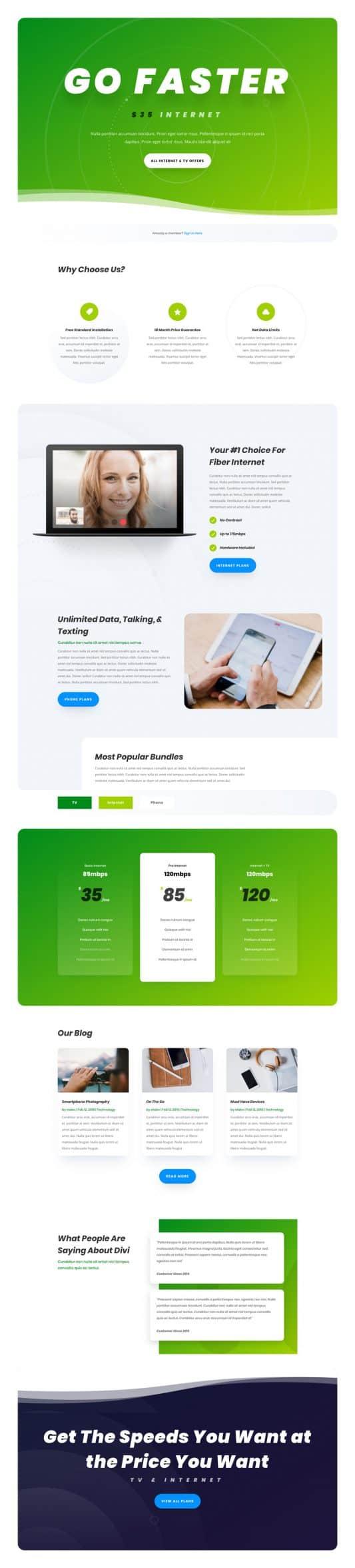 Internet Service Provider Web Design 5