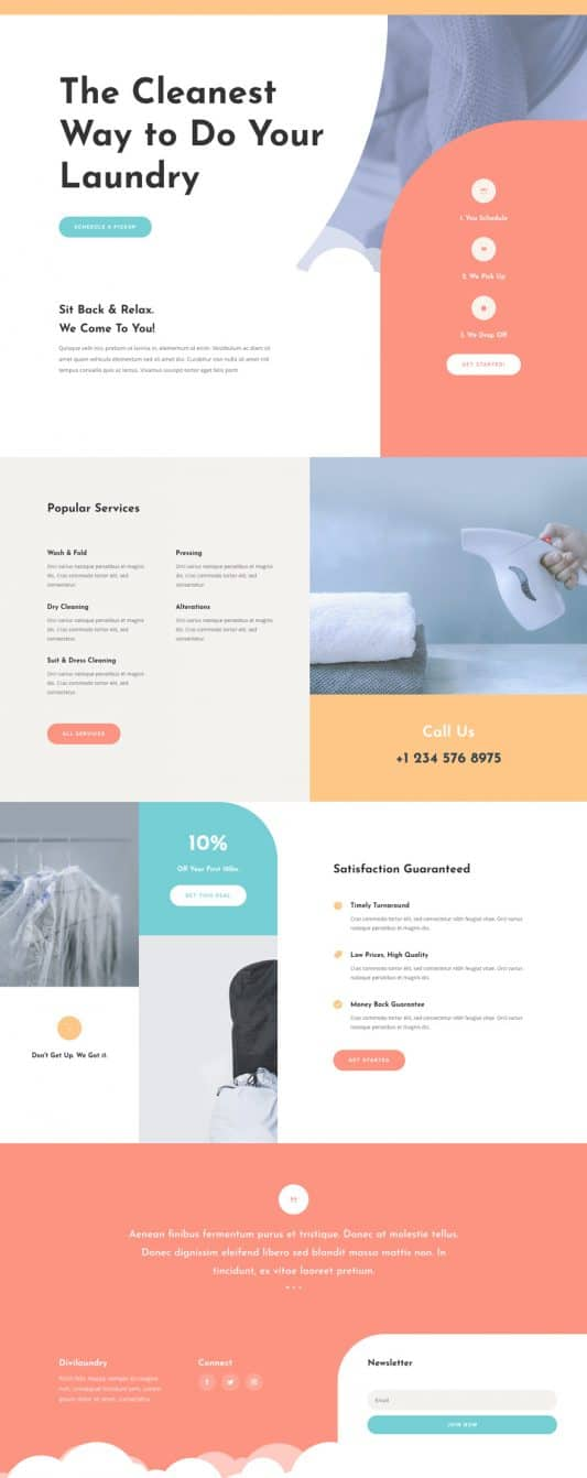 Laundry Service Landing Page Style 1