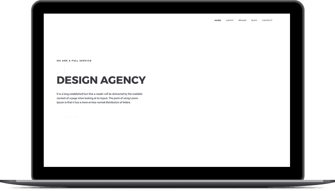 Design Agency Landing Page Style 6