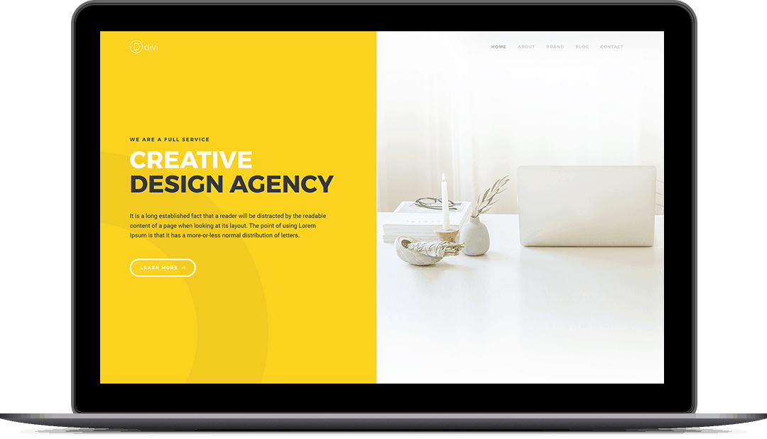 Design Agency Project Page 1 Style 5
