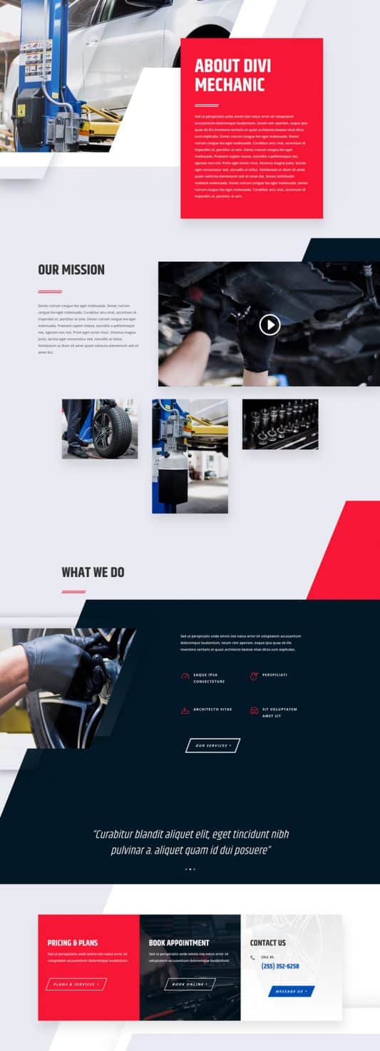 Mechanic Web Design 1