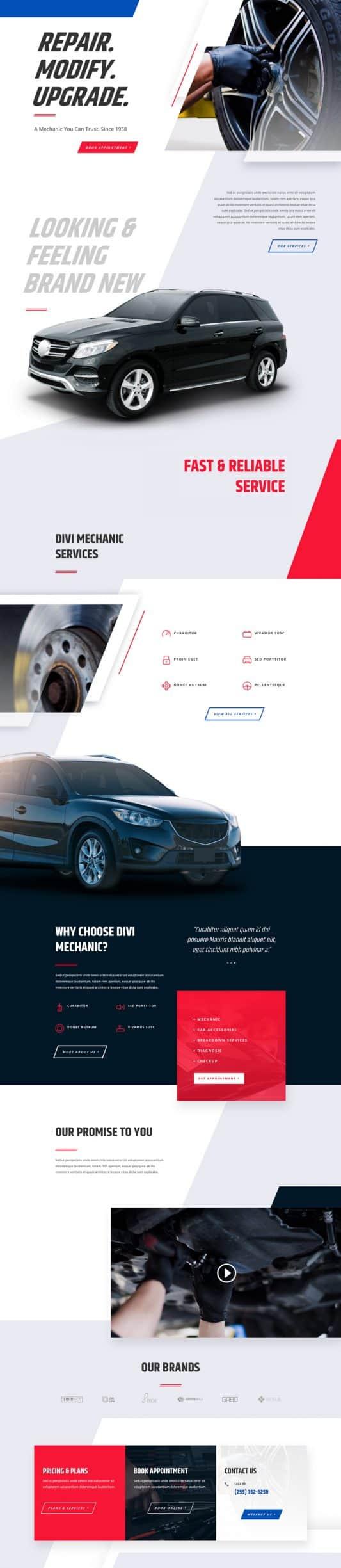 Mechanic Web Design 5