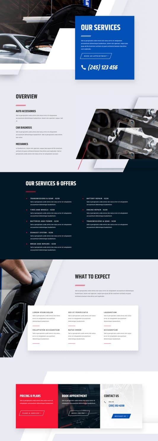 Mechanic Web Design 6