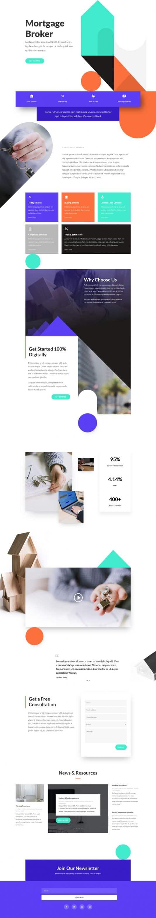 Mortgage Broker Web Design 6