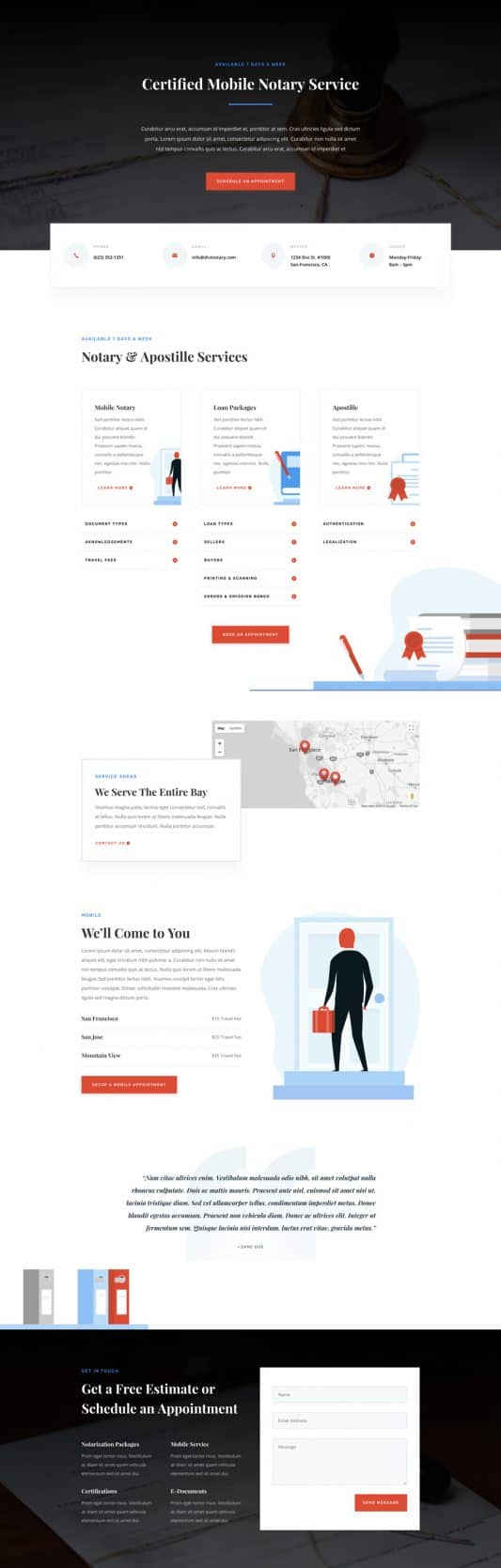 Notary Public Web Design 4