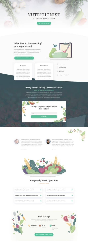 Nutritionist Web Design 4