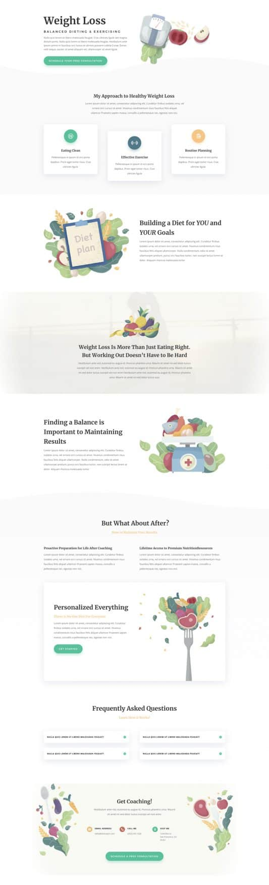 Nutritionist Service Page Style 1