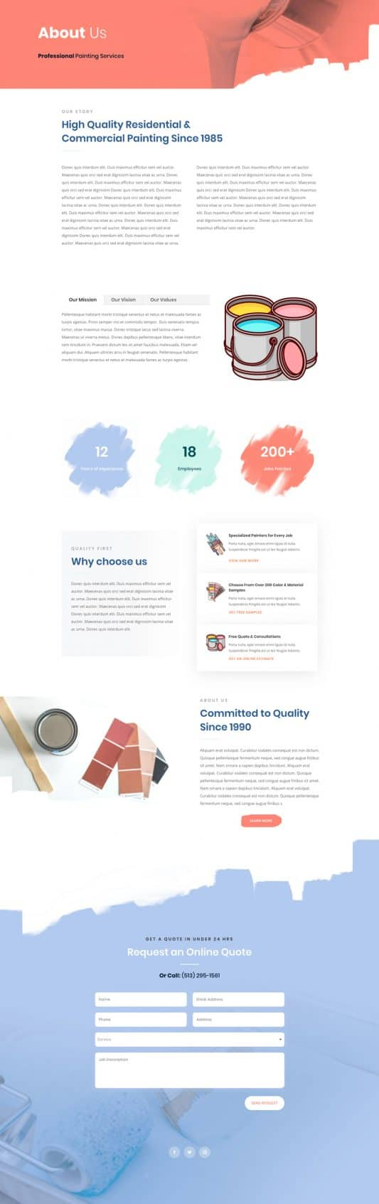 Painting Service Web Design 1
