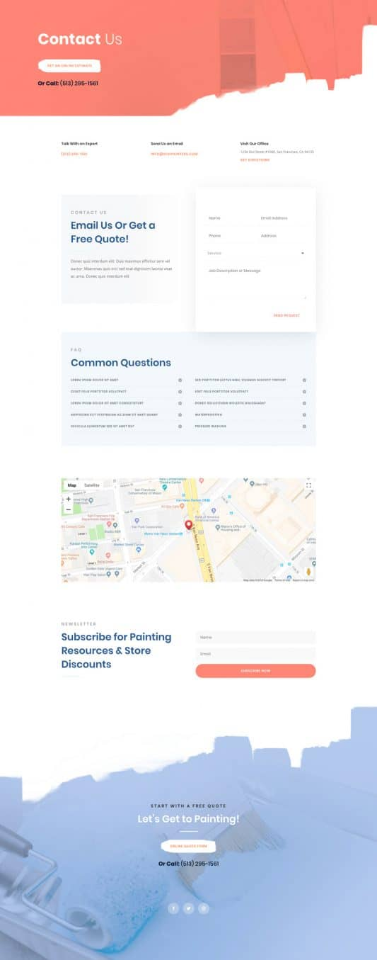 Painting Service Web Design 2
