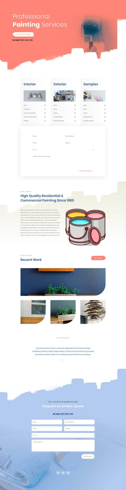 Painting Service Web Design 3