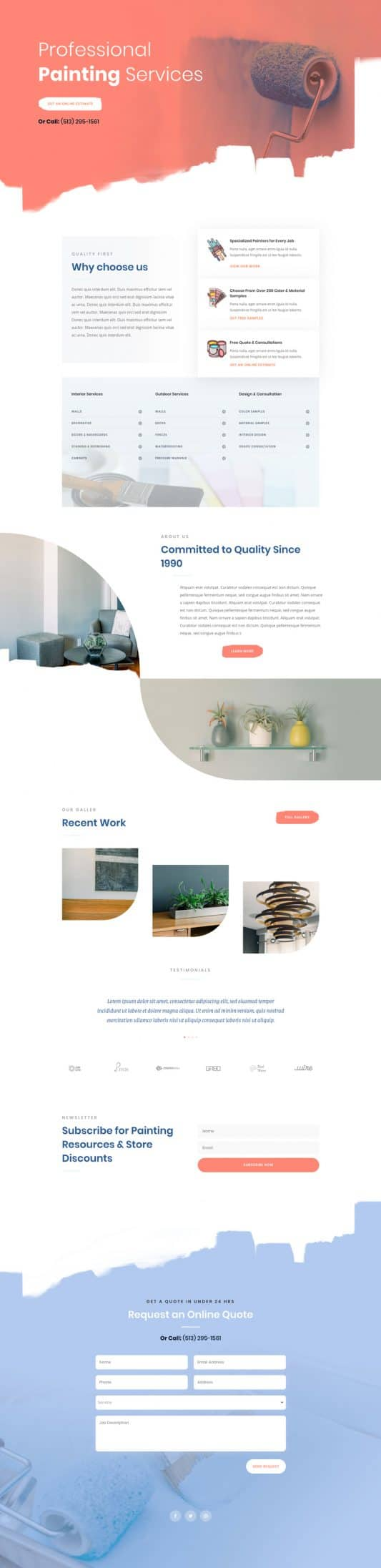 Painting Service Landing Page Style 1