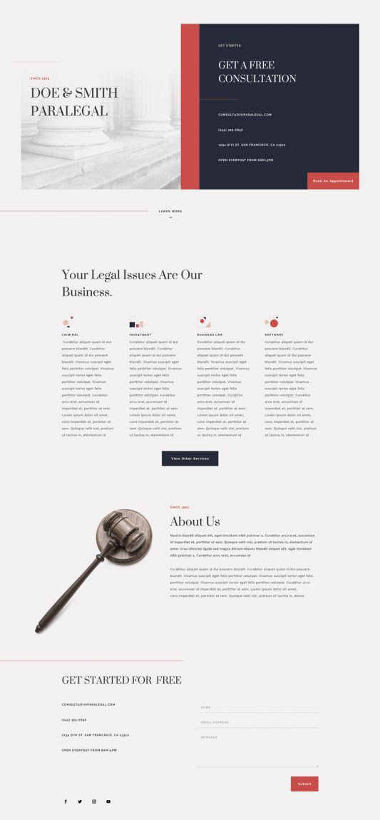 Paralegal Web Design 4