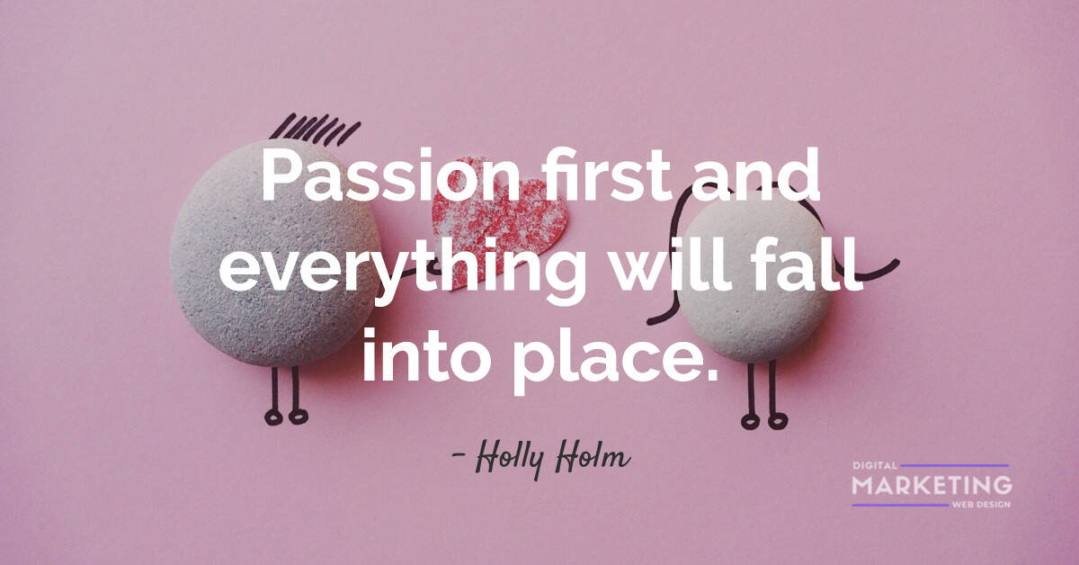 Passion first and everything will fall into place - Holly Holm 1