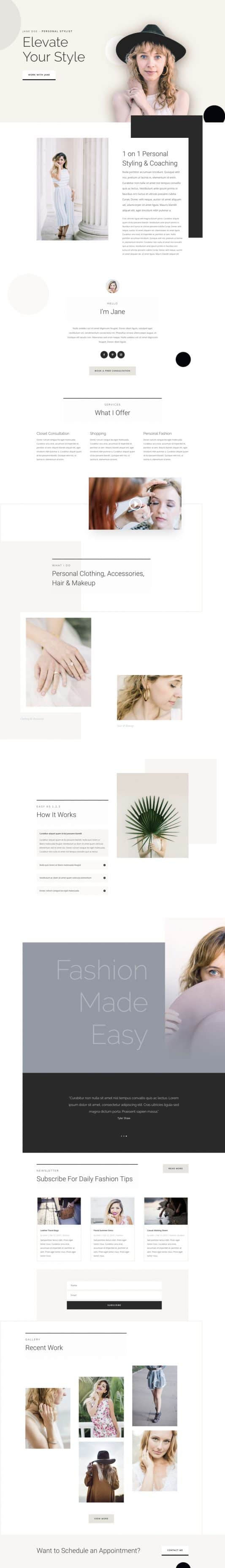 Personal Stylist Web Design 5