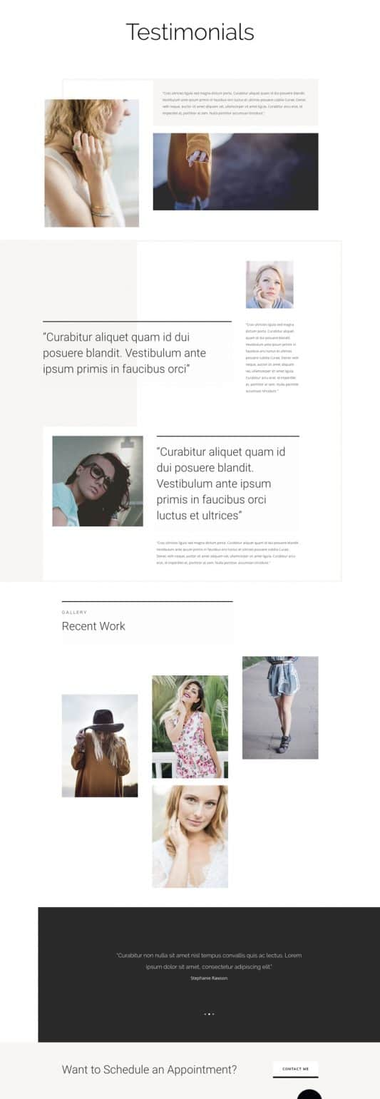 Personal Stylist Web Design 6