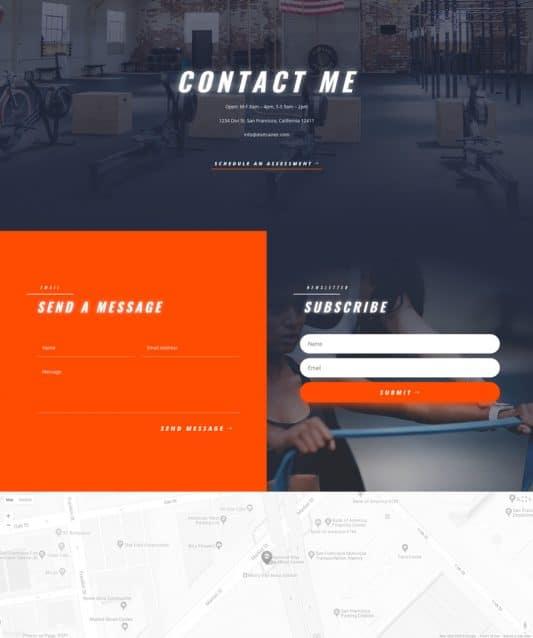 Personal Trainer Web Design 3