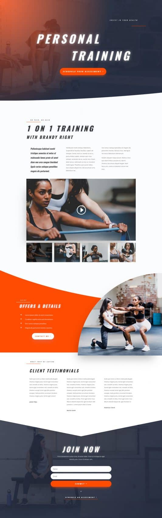 Personal Trainer Home Page Style 1