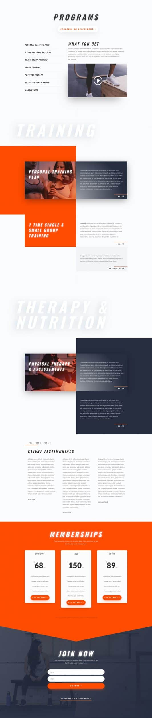 Personal Trainer Services Page Style