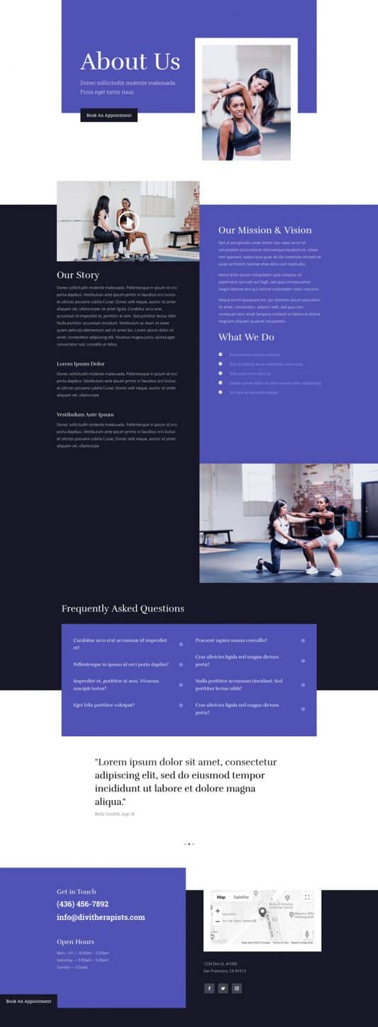 Physical Therapy Web Design 1