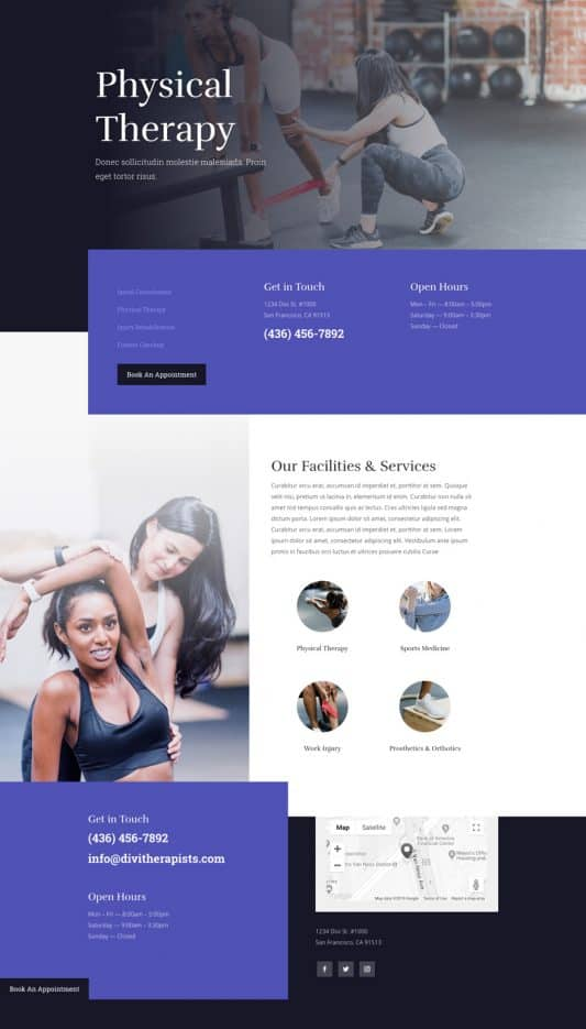 Physical Therapy Web Design 4