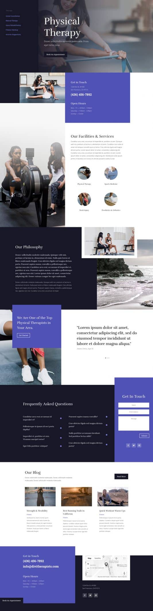 Physical Therapy Web Design 5