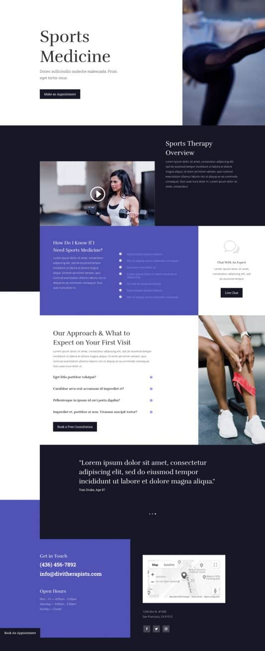 Physical Therapy Service Page Style 1