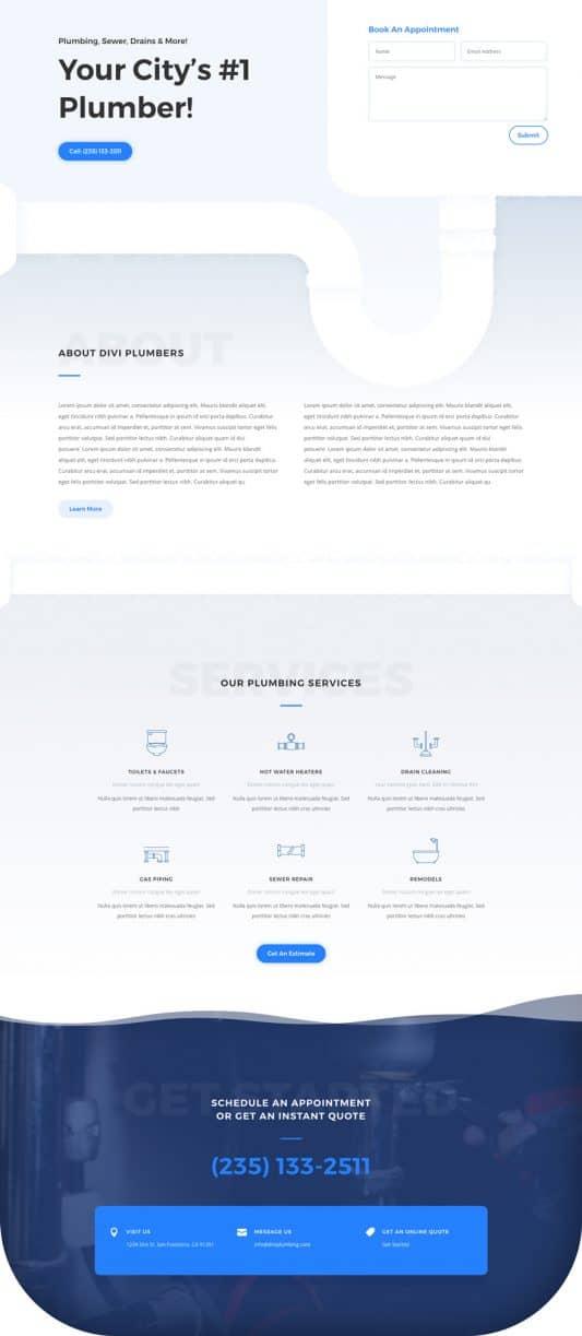 Plumber Web Design 4