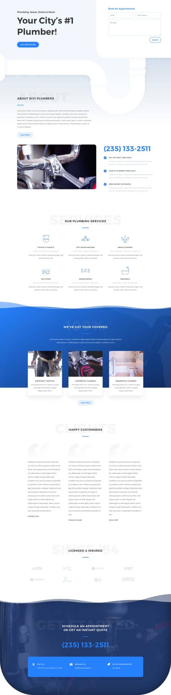 Plumber Web Design 5