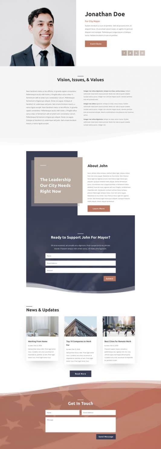 Political Candidate Web Design 5