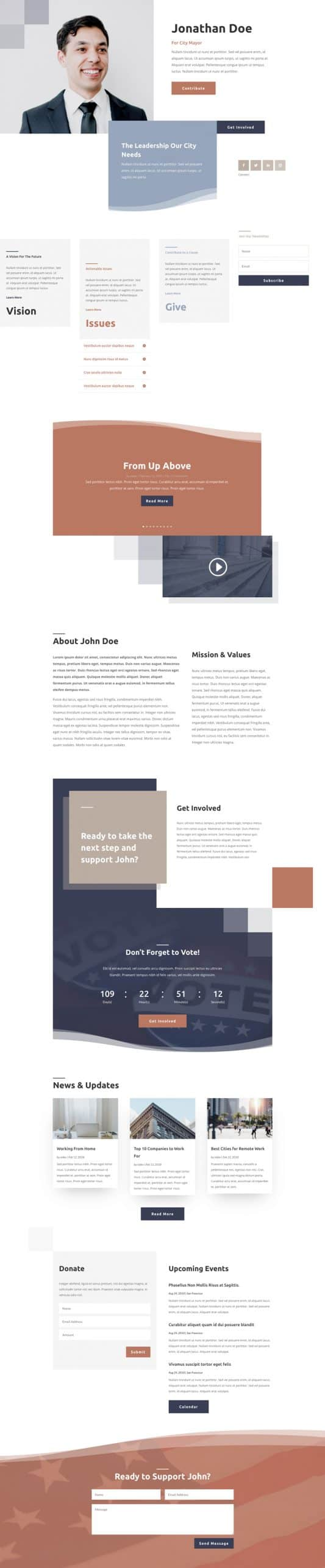 Political Candidate Web Design 6