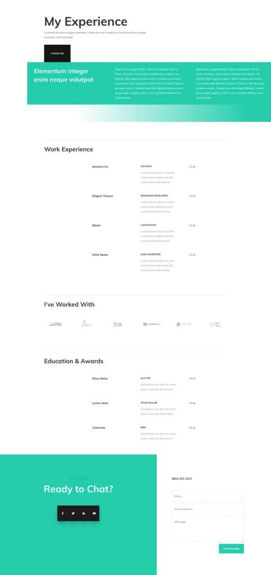 Professional CV Web Design 4
